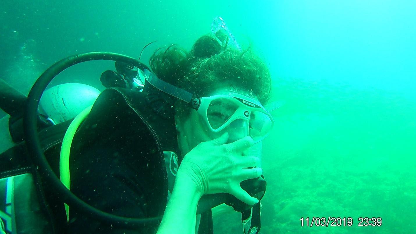 Alice scuba diving