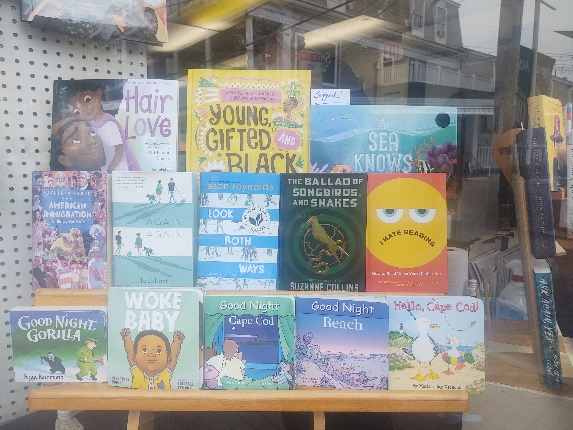 Window at Provincetown Bookshop